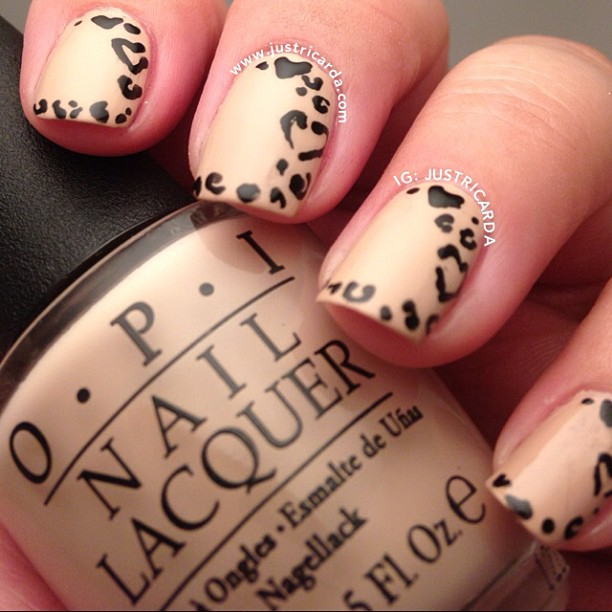 Heart Leopard Nails Justricarda